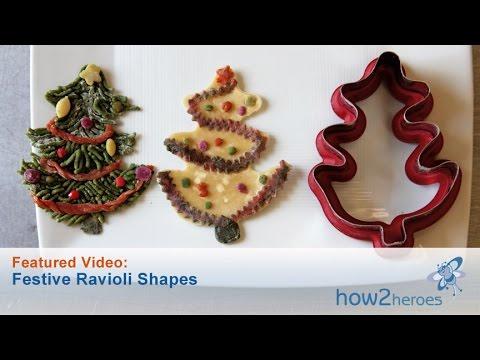 Festive Ravioli Shapes