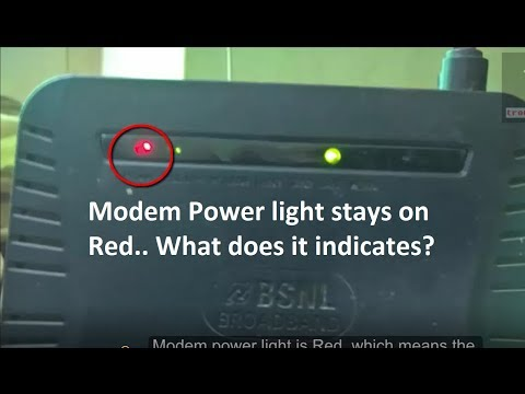 Modem power light is Red Why ? Troubleshooting Broadband modem