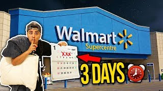 72 HOUR OVERNIGHT CHALLENGE IN WALMART! **WORLD RECORD**