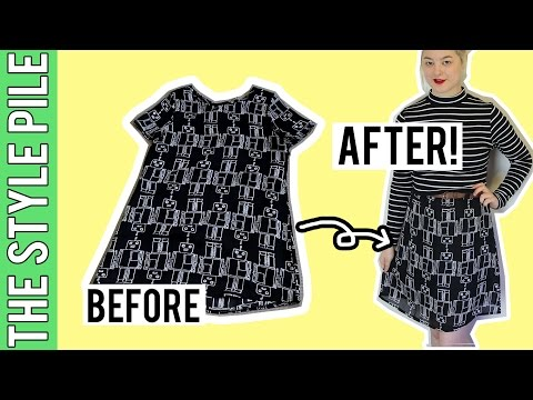 Transform a Dress into a Skirt! | Style Pile #11