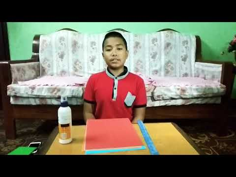 Making photo frame by chart paper