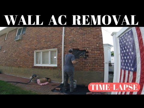 Removal Of A Wall Air Conditioner (Brick)