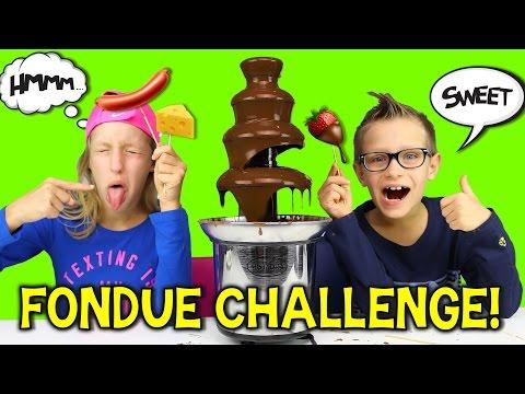 CHOCOLATE FONDUE CHALLENGE!!