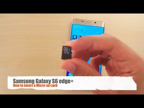 How to insert a Micro-SD card - Samsung Galaxy S6 edge+
