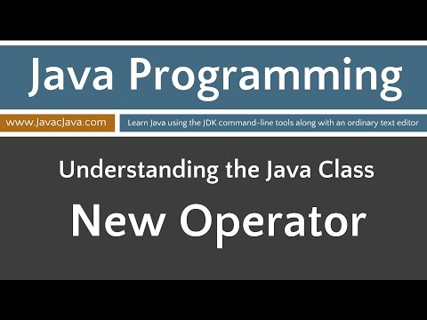 Learn Java Programming - The New Operator Tutorial
