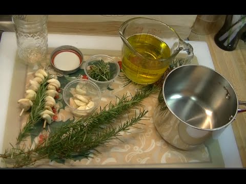 Rosemary & Garlic Infused Oil ~ Noreen's Garden