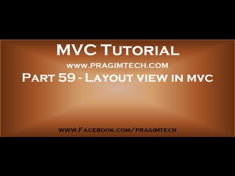 Part 59   Layout view in mvc