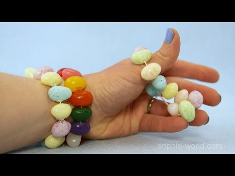 How to Make a Jelly Bean Bracelet | Sophie's World
