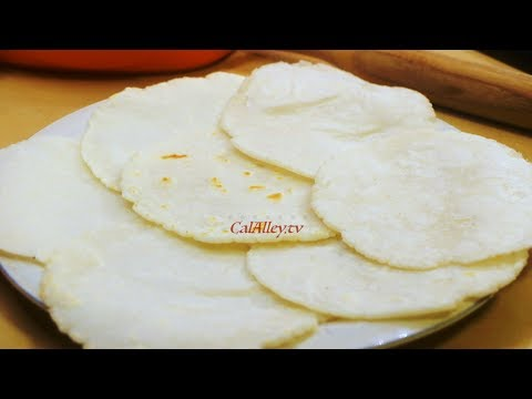 HOW TO MAKE SOFT RICE TORTILLAS|GLUTEN FREE DIET|2018 |RICE ROTI