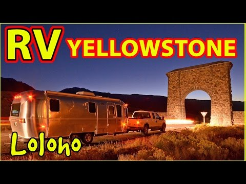 Airstream Camping in Yellowstone National Park