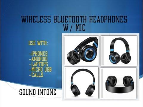 Wireless Bluetoothe Headphones w/ Mic - Sound Intone P6 Unbox/Review
