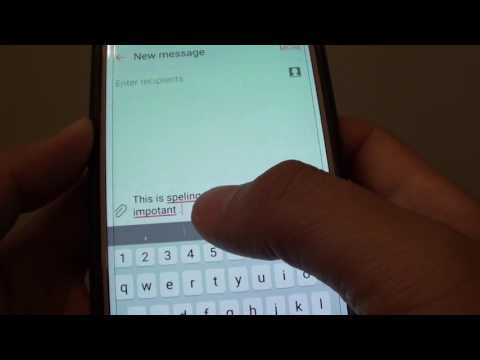 Samsung Galaxy S7: How to Enable / Disable Auto Check Spelling