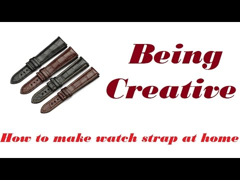 DIY how to make watch strap from leather at home very easy (Being Creative)