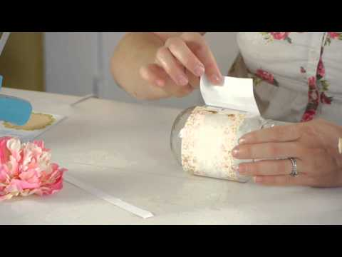 How to Decorate a Mason Jar With Scrapbook Paper : Knitting & Jar Crafts