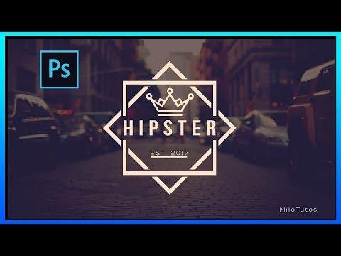 [MT] SPEED ART | HIPSTER LOGO DESIGN | PHOTOSHOP CC | MiloTutos