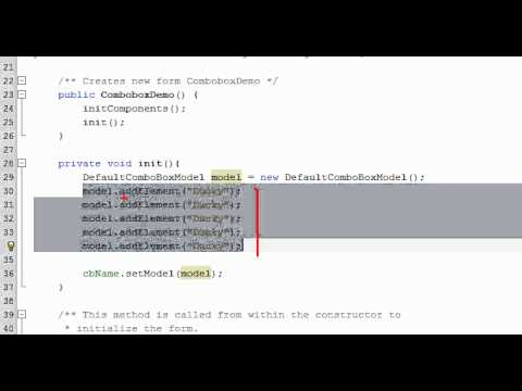Bài 14 Java Swing: Combobox 1