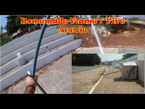 How to make homemade fire/flame arrow - Lets burn something!!