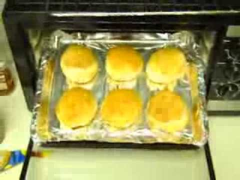 Rotisserie Convection Oven. Cooking Buns.
