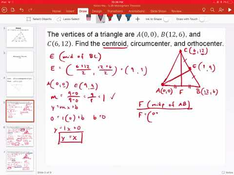Finding the Centroid of a Triangle