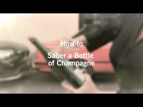 How to Safely Saber a Champagne Bottle