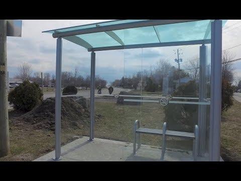New Bus Shelter installed for pedestrians