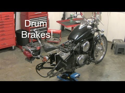 Rear Motorcycle Wheel Removal and Drum Brake Inspection