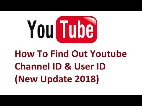How To Find Out Youtube Channel ID & User ID (New Update 2018)