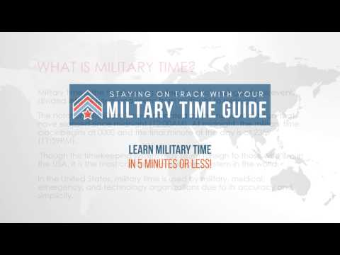 Learn and Convert Military Time