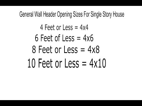 Window and Door Header Sizes - Structural Engineering and Home Building Part 6
