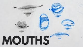 How To Draw Mouths  Lips  Tutorial