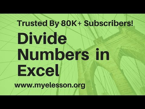 Divide Numbers In Excel