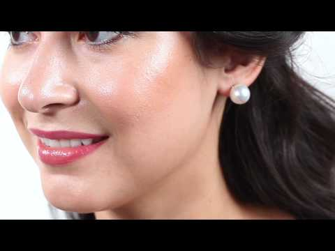 Pure Pearls Big and Gorgeous 13-14mm South Sea Stud Earrings AAA Quality  with14K White Gold Backs