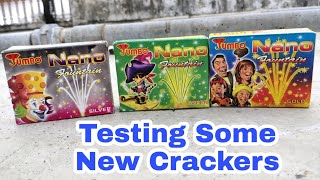 Testing some new crackers | Nano fountain crackers | Different types of crackers testing 2019