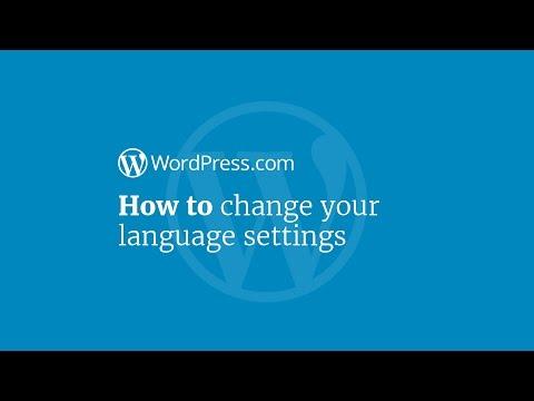 WordPress Tutorial: How to Change Your Language Settings