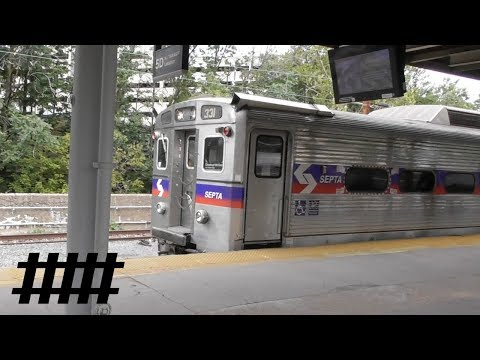 NJ Transit ALP-45DP Pushing NJT Bombardier Multi-Level Coaches with SEPTA Train Trenton, NJ