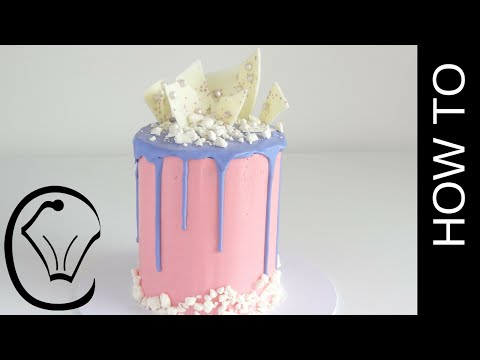 Cotton Candy Flavoured Tall Drip Cake How To by Cupcake Savvy's Kitchen