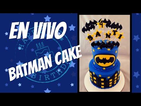 Saludando Y Pasteleando Batman Cake