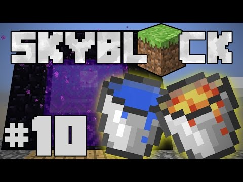 Minecraft- SkyBlock [10] BUILDING THE PORTAL