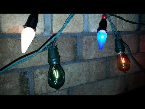 Vintage 50 and 100 Year Old Christmas Lights