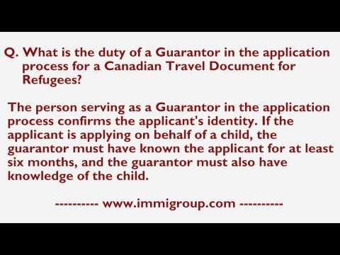 What is the duty of a Guarantor in the application process for a CTDR?