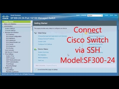 Connect cisco switch via ssh SF300