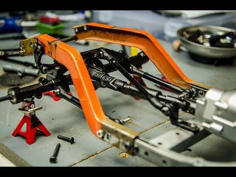 Custom RC Rat Rod Build Part 3, Mounting the Rear Axle