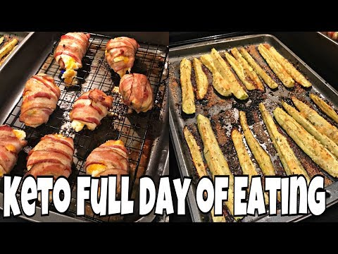 Keto Cut Day 11 | Keto Full Day of Eating | Jalapeño Popper Chicken + Parmesan Zucchini