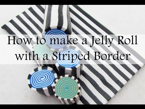 How to Make a Polymer Clay Jellyroll Cane with Striped Border