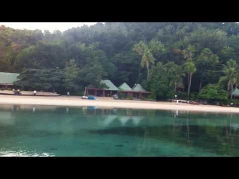turtle island fiji blue lagoon morning
