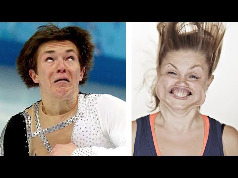 Hilarious Faces of Ice Skaters!