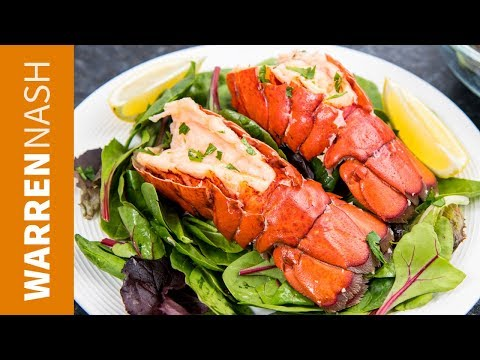 How to cook Lobster Tail on the Stove - Steamed in JUST 7 mins! Recipes by Warren Nash