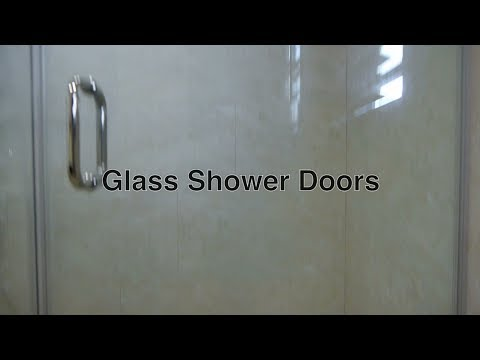 Glass Shower Doors in Frameless Walk In Custom Enclosure w/o Need For Shower Curtains / Rod Kits