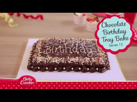 Chocolate Birthday Tray Bake Recipe - Betty Crocker™