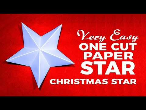 Make a Perfect Paper Star One Cut | Easy Make Christmas Star